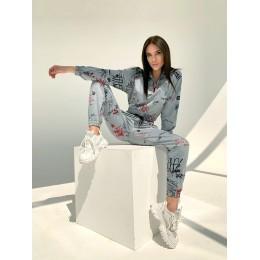 Женский спортивный костюм с брюками карго