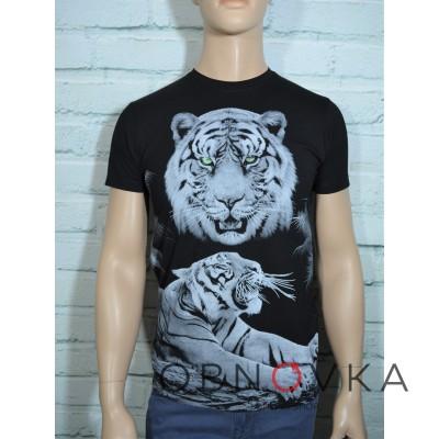Черная футболка Тигр