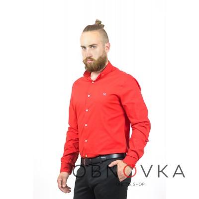 Сорочка чоловіча червона Maksymiv