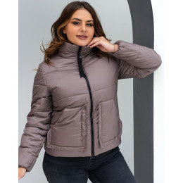 Укороченная женская осенняя куртка