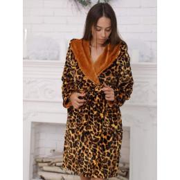 Жіночий леопардовий халат