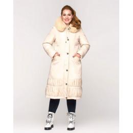 Длинная теплая куртка батал