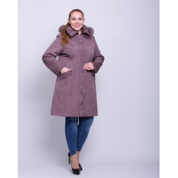 Зимняя стеганая куртка батал