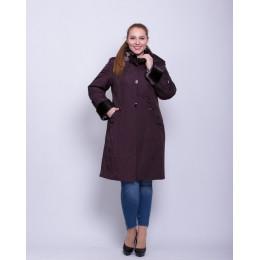 Зимняя длинная теплая куртка батал