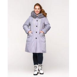 Длинная зимняя куртка батал