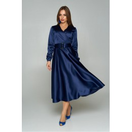 "Платье ""А-211"" (темно-синий)"