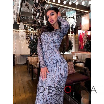 Блестящее платье макси по фигуре