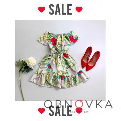 Цветочное летнее платье с рюшами