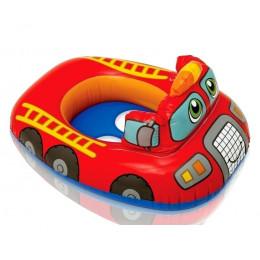 """Надувной детский плотик-круг """"Baby Floats"""", Пожарная машина (Intex 59586-1)"""