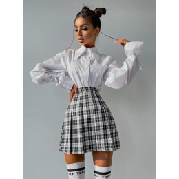 Комплект: рубашка + юбка в складку