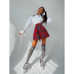 Комплект: рубашка + юбка в складку с отстегивающимся карманом